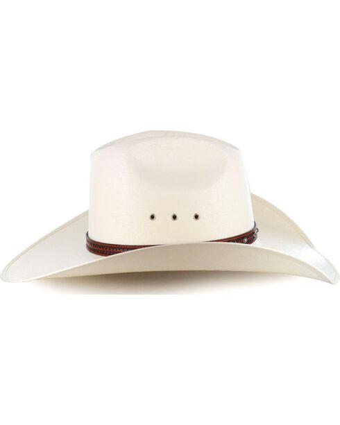 Larry Mahan Browning 10X Straw Cattleman Cowboy Hat, Natural, hi-res