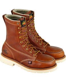 "Thorogood Men's American Heritage Classics 8"" Work Boots - Steel Toe , Brown, hi-res"