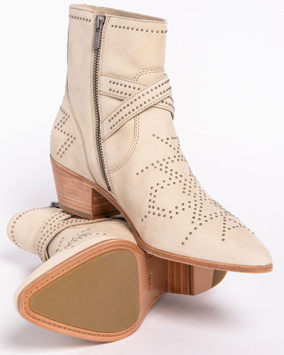 Frye Women's Ellen Ivy Deco Buckle Booties - Medium Toe, Ivory, hi-res