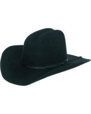 Master Hatters Boys' Black Fox 3X Wool Felt Cowboy Hat, Black, hi-res