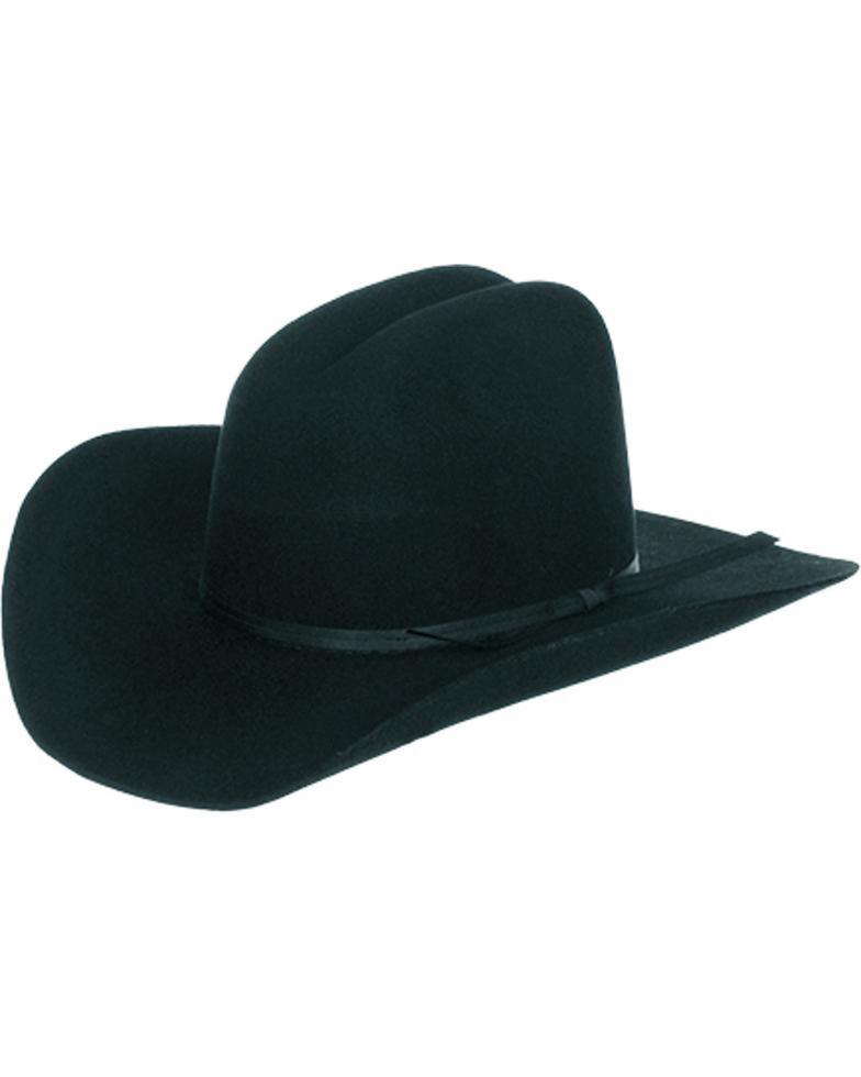 Master Hatters Boys  Black Fox 3X Wool Felt Cowboy Hat  753757e66a0