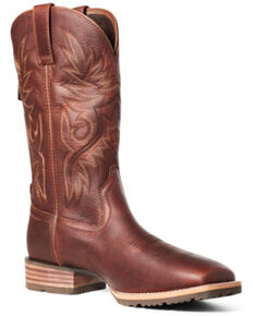 Ariat Men's Hybrid Big Boy Western Boots - Square Toe, Brown, hi-res