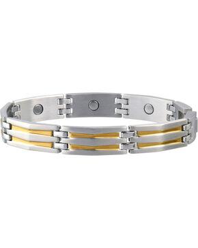 Sabona Men's Silhouette Duet Magnetic Bracelet, Two Tone, hi-res