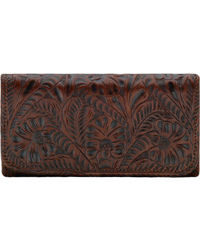 American West Women's Annie's Secret Tri-Fold Wallet , Brown, hi-res