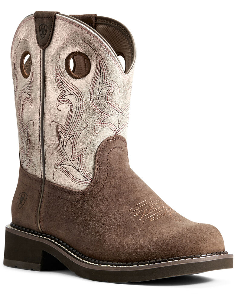 Ariat Women's Heritage Cowgirl Western Boots - Round Toe, Brown, hi-res