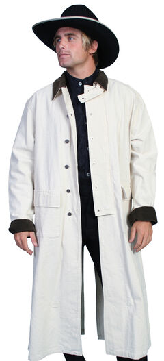 RangeWear by Scully Long Canvas Duster, Natural, hi-res