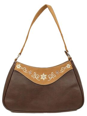 Blazin Roxx Floral Embroidered Satchel Bag, Brown, hi-res