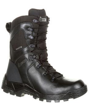 Rocky Men's Sport Pro Waterproof Duty Boots - Round Toe, Black, hi-res