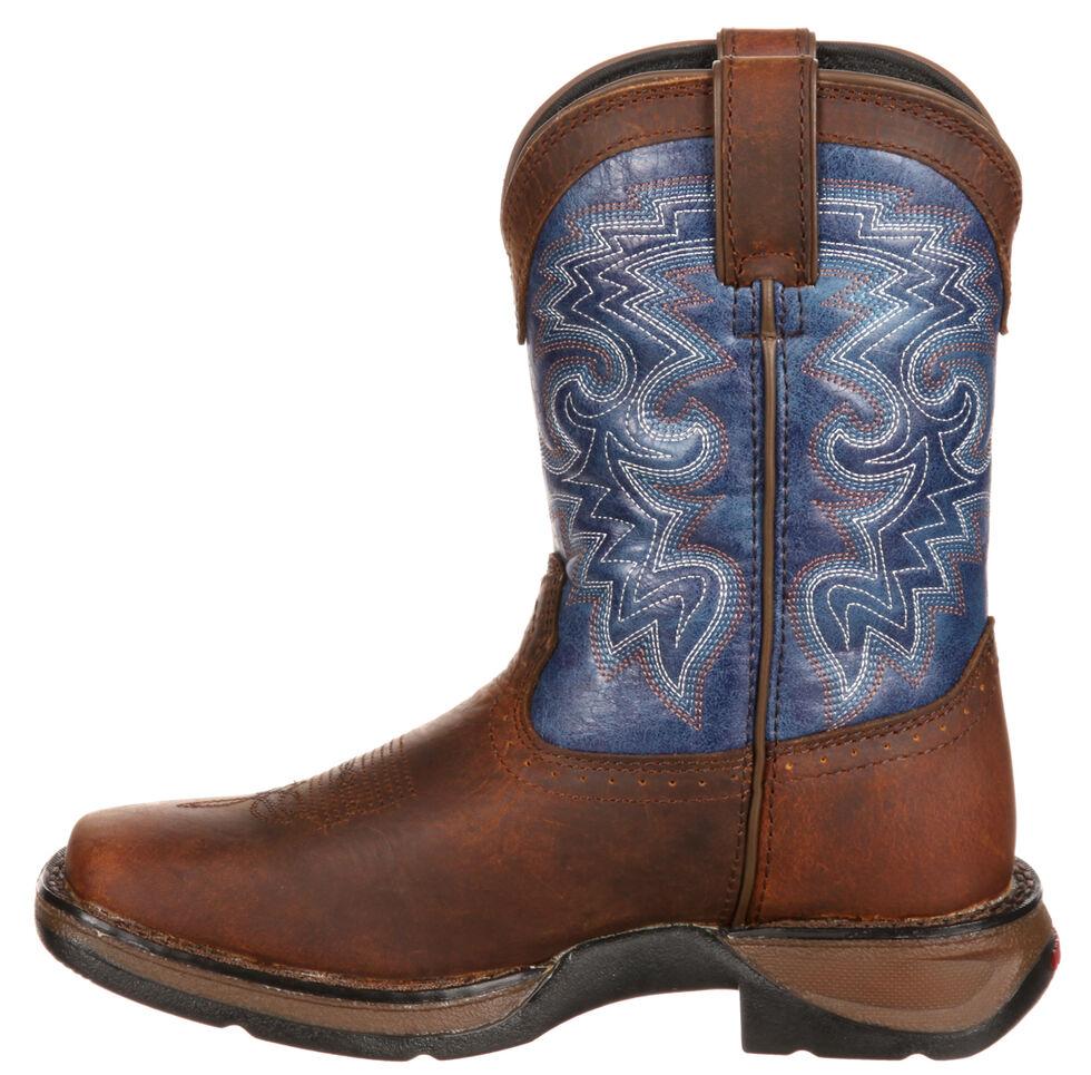 Durango Toddler Boys' Navy Blue Western Boots - Square Toe, Dark Brown, hi-res