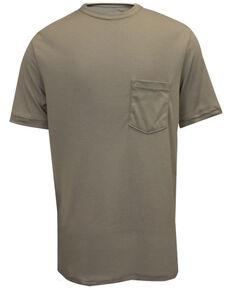 National Safety Apparel Men's Khaki FR Classic Short Sleeve Work T-Shirt - Big , Beige/khaki, hi-res