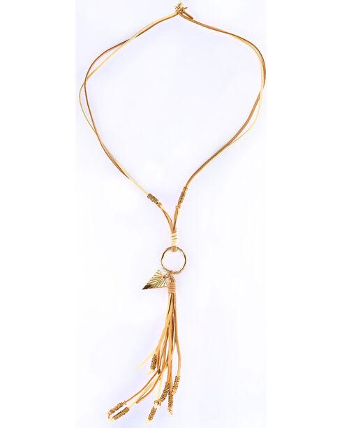 Sincerely Mary Women's Selen Suede Tassel Necklace, No Color, hi-res