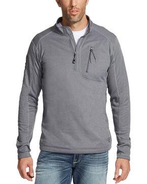 Ariat Men's Charcoal Motivation Relentless 1/4 Zip Pullover , Charcoal, hi-res