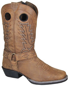 Smoky Mountain Youth Girls' Redwood Western Boots - Square Toe, Brown, hi-res