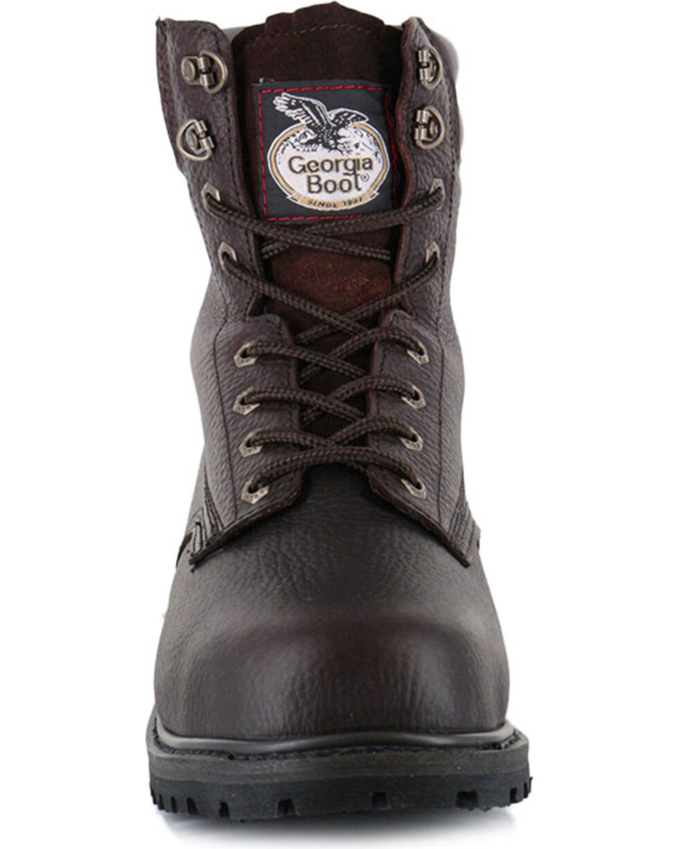 "Georgia Men's 6"" Oiler Work Boots - Steel Toe , Brown, hi-res"