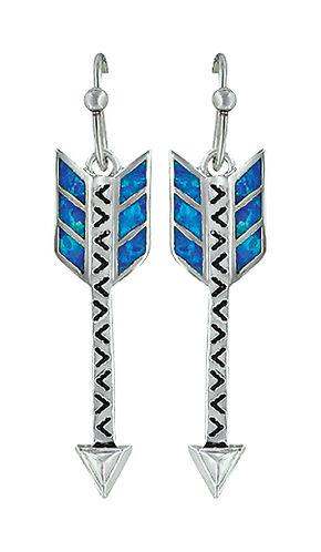 Montana Silversmiths Women's Sky Fletched Arrow Earrings , Silver, hi-res