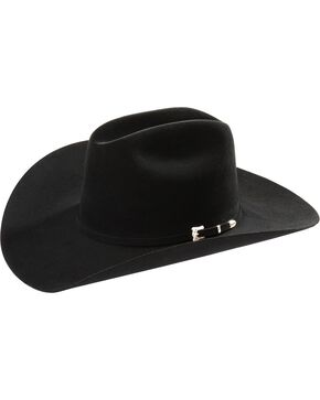 Resistol Black Gold Low Crown 20X Fur Cowboy Hat, Black, hi-res