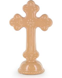 BB Ranch Ceramic Cross Pedestal, No Color, hi-res