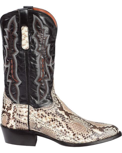 Dan Post Men's Natural Belly Cut Python Cowboy Boots - Round Toe, Natural, hi-res