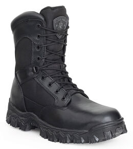 Rocky Men's Alphaforce Waterproof Zipper Composite Toe Duty Boots, Black, hi-res