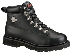 Harley Davidson Men's Drive Lace-Up Boots - Steel Toe, Black, hi-res