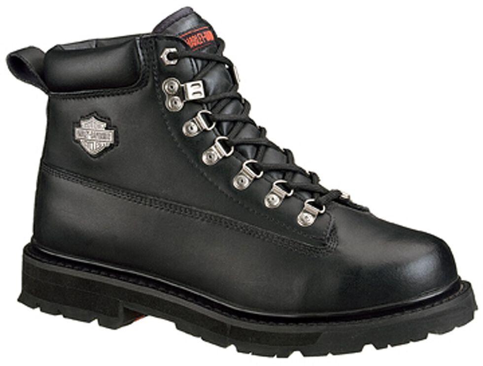 Harley Davidson Men's Drive Lace-Up Boots - Steel Toe, Black, hi-res