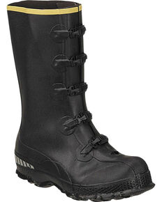 LaCrosse Men's ZXT Buckle Series Overshoe Rubber Boots - Round Toe, Black, hi-res