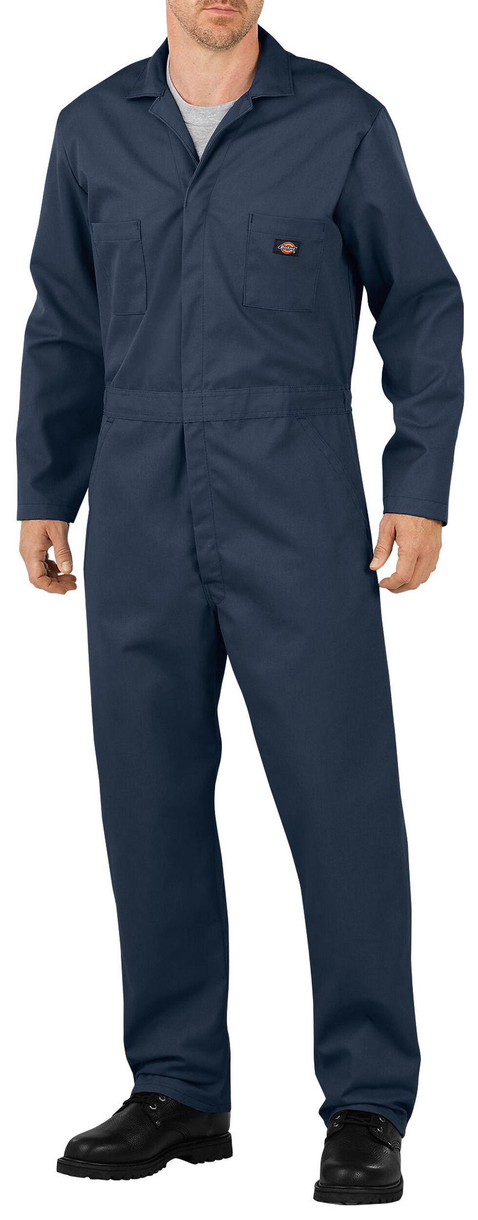 Dickies Long Sleeve Coveralls - Big & Tall, Dark Blue, hi-res
