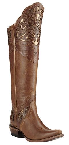 Ariat Chaparral Brilliant Buff Cowgirl Boots - Snip Toe, Brown, hi-res