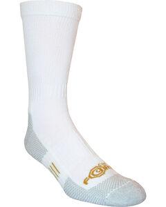 Carhartt Force® White Work Crew Socks, White, hi-res