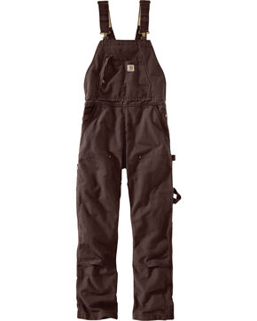 Carhartt Women's Wildwood Unlined Bob Overalls, Dark Brown, hi-res