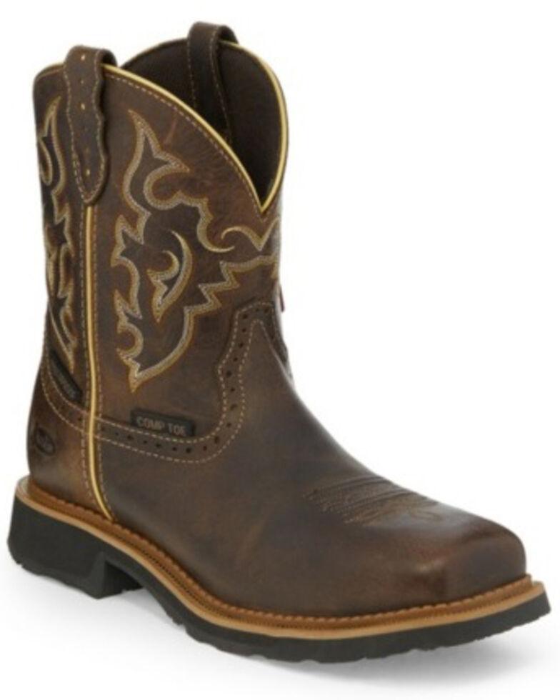 Justin Women's Jalena Waterproof Western Work Boots - Composite Toe, Pecan, hi-res