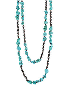 Montana Silversmiths Women's Stacked Turquoise Layered Necklace, No Color, hi-res