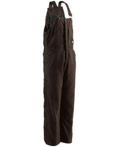 Berne Men's Original Washed Insulated Bib Overalls - Short , Bark, hi-res
