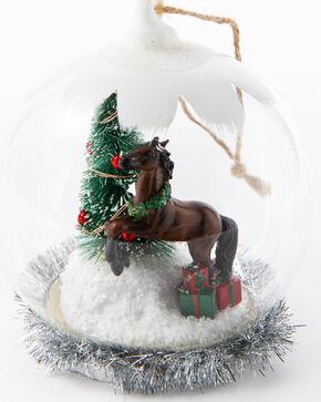 BB Ranch Horse LED Snowglobe Ornament, White, hi-res