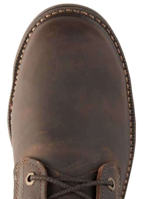 """Justin J-Max Rugged Gaucho 8"""" Lace-Up Work Boots - Round Toe, Brown, hi-res"""