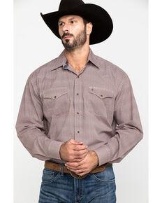 Stetson Men's Brown Geo Print Long Sleeve Western Shirt , Brown, hi-res