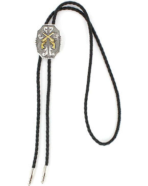 Cody James Men's Crossed Pistols Bolo Tie , Multi, hi-res