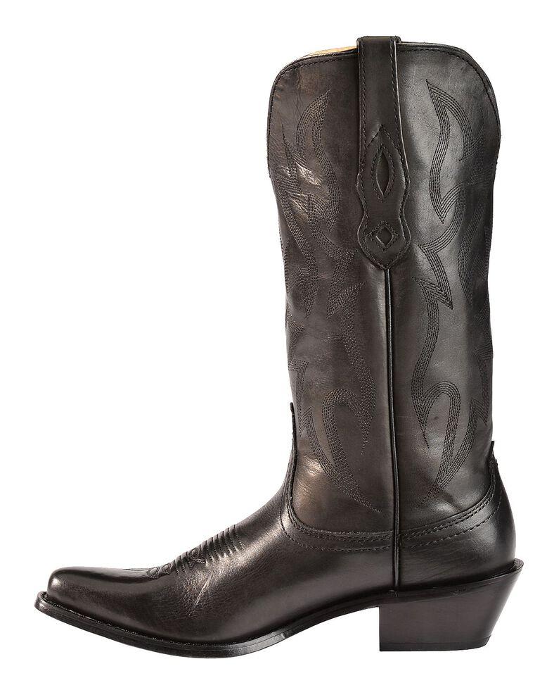 Nocona Deertan Cowgirl Boots - Snip Toe, Black, hi-res