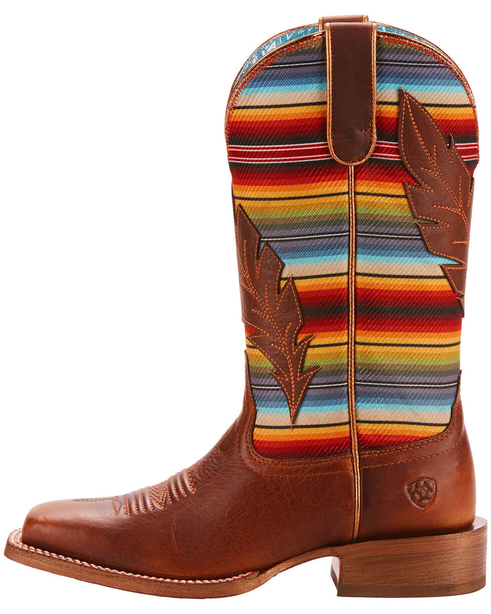 Ariat Women's Circuit Feather Cowgirl Boots - Square Toe, Tan, hi-res