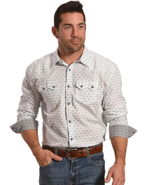 Moonshine Spirit Men's Lightning Western Long Sleeve Shirt, White, hi-res