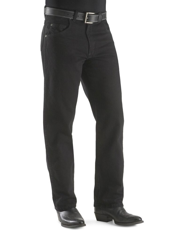 """Wrangler Jeans - Rugged Wear Relaxed Fit - Big. 44"""" to 54"""" Waist, Black, hi-res"""