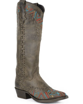 Stetson Doli Cowgirl Boots - Snip Toe, Brown, hi-res