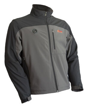 My Core Control Men's Heated Softshell Jacket, Grey, hi-res