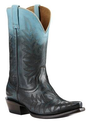 Ariat Blue Ombre Cowgirl Boots - Snip Toe, Blue, hi-res