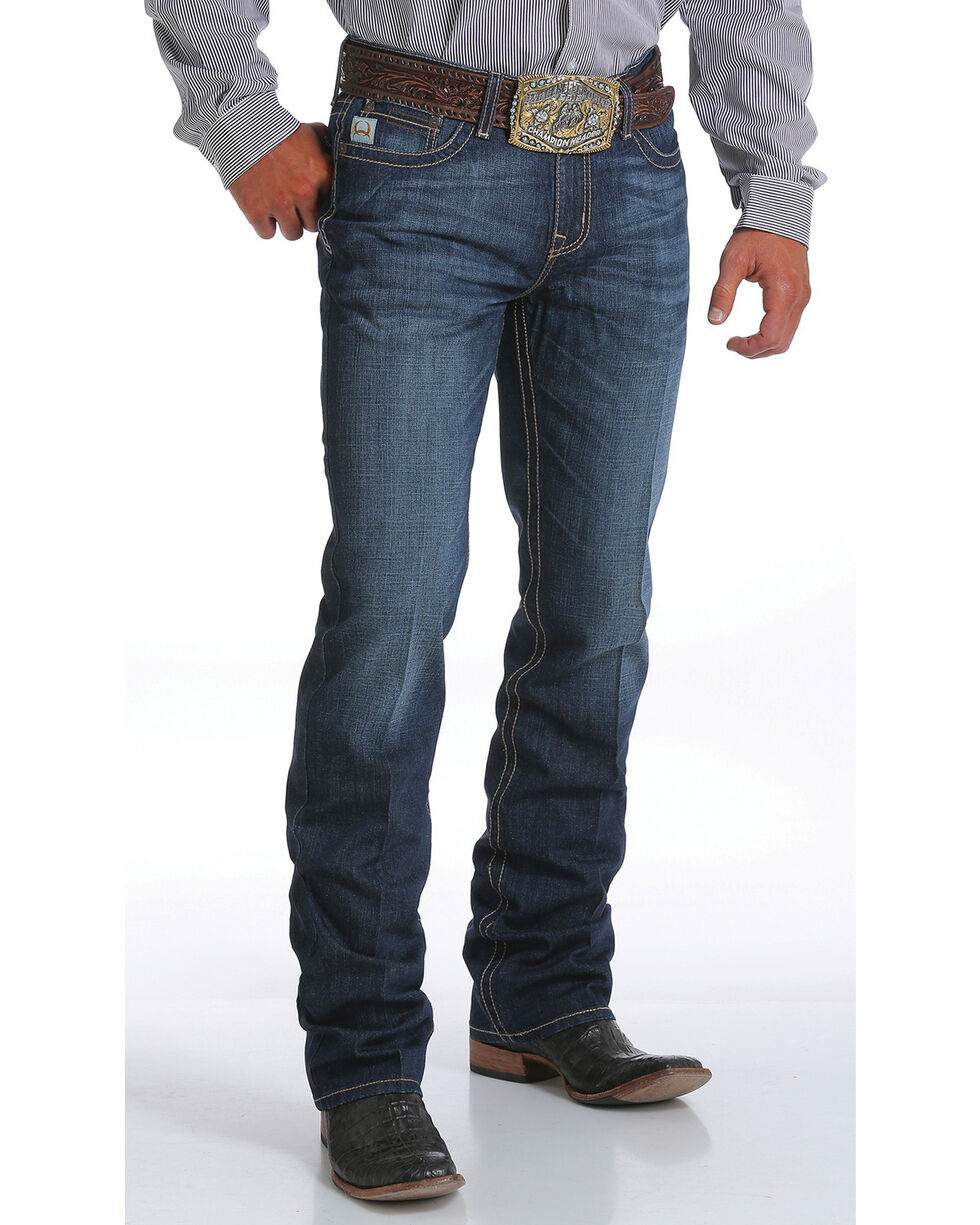 Cinch Men's Ian Dark Rinse Slim Fit Jeans - Boot Cut, Indigo, hi-res
