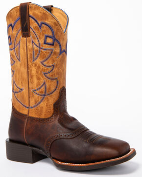 Cody James Men's Putnam Western Boots - Wide Square Toe, Brown, hi-res