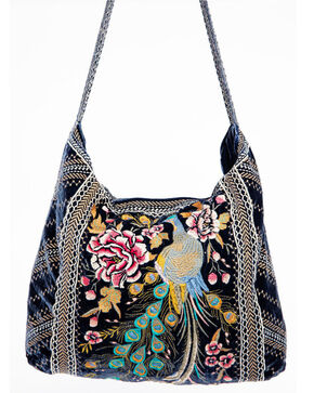 Johnny Was Women's Quito Velvet Tote, Blue, hi-res