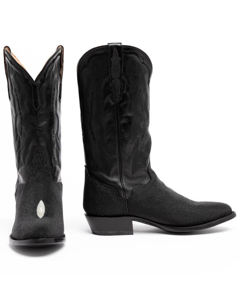 El Dorado Men's Stingray Western Boots - Round Toe , Brown, hi-res