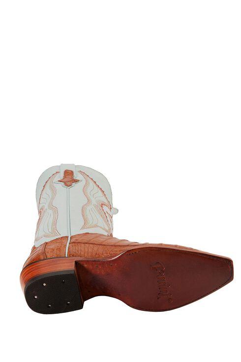Ferrini Cognac Caiman Belly Cowgirl Boots - Snip Toe, Cognac, hi-res