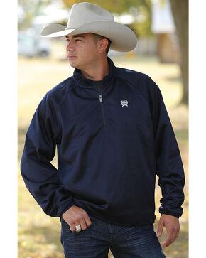 Cinch Men's Navy Fleece 1/4 Sweater Pullover - Big , Navy, hi-res
